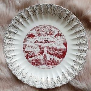 VTG Scenic South Dakota Souvenir Decorative Plate